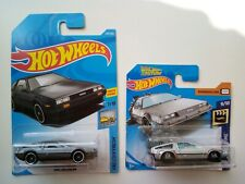Hot Wheels Cars DMC Delorean & Back To The Future Time Machine Hover Mode 2Items