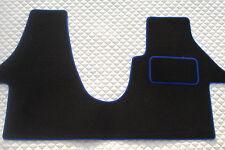 TO FIT A VW TRANSPORTER T5 2012 PETROL VAN, BLACK/BLUE PIPING CUSTOM FIT 1PC MAT