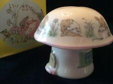 Elizabethan Staffordshire Bone China Mrs Rabbit Mushroom Money Bank -Ships Free