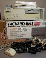 Packard Bell Legend 520SX PB55 w/Original 386 SX-20 BOX Mouse & Manuals (AS IS)