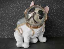 NOVELTY SPACE ASTRONAUT DOG FRENCH BULLDOG ORNAMENT DECORATIVE MOON
