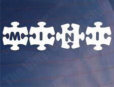 MINI JIGSAW Novelty BL/Rover/BMW Car/Window/Bumper Vinyl Stickers/Decals