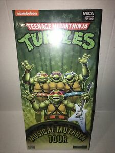 "NECA TMNT SDCC 2020 MUSICAL MUTAGEN TOUR 4-PACK TARGET EXCLUSIVE 6"" FIGURES MISP"