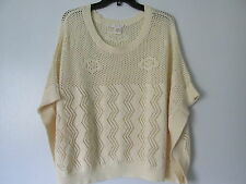 Willow & Clay Beige Over sized Open Knit Kimono Sweater Top NWOT SZ: S
