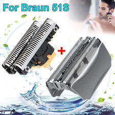 For Braun Series 5 8000 Shaver 51S Replacement Foil & Cutter Head 5643 5758   #&