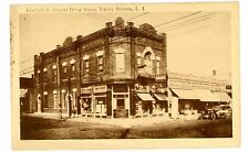Valley Stream LI NY - FRANKEL & MEYERS DRUG STORE - Postcard Ex Lax Sign