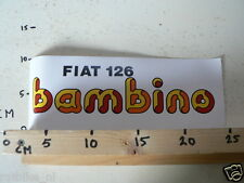 STICKER,DECAL FIAT 126 BAMBINO LARGE 28 CM