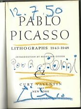 """PABLO PICASSO Signed Hard Cover Book """"Lithographs 1945-1948, Artist, JSA LOA"""
