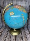 "Vtg George F. Cram's Imperial World Globe Spinning 12"" Diameter 17"" Tall Earth"
