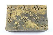 Vintage Brass Rangoli Printing Dye Block Art handmade Rangoli designs. G46-149