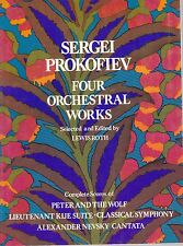 partition Prokofiev Four orchestral works