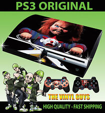 PLAYSTATION PS3 ORIGINAL STICKER CHILDS PLAY CHUCKY HORROR SKIN & 2 PAD SKINS