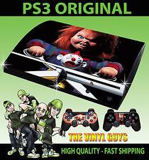 PLAYSTATION PS3 Childs Play Chucky Terror Original de la etiqueta engomada de la piel y 2 Pad Skins
