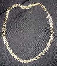 heavy OROTON triple link flat necklace,105gr,62cm.gold tone with tag