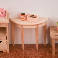 1/12 Scale Wooden Mini Table Dollhouse Miniatures Furniture Kitchen Decor
