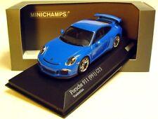 1:43 MINICHAMPS 2012 PORSCHE 911 991 GT3 voodoo blue cartima EXCLUSIVE LE 200 pc