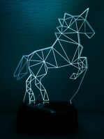3D Nightlight Unicorn Creative 3D  Lamp Touch-Switch LED 7 Colors 9'