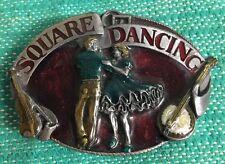 Vintage 1988 Siskiyou Hebilla de cinturón-Cuadrado Bailando