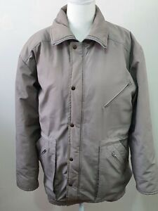 LONDON FOG- Mens Grey Jacket with Hideable Hood - Size 97R Chest Winter Wear