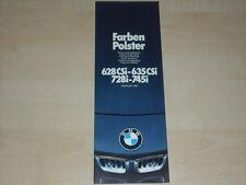 67751) BMW 6er 7er Reihe E24 E23 - Farben & Polster - Prospekt 02/1981