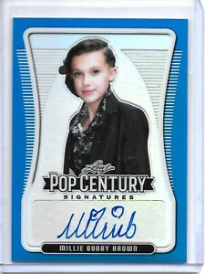 2020 Leaf Pop Century MILLIE BOBBY BROWN BLUE REFRACTOR AUTO SP #17/25!!