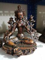 Buddhism old Bronze Buddha boddhisattva Avalokiteshvara Padmapani Guanyin statue