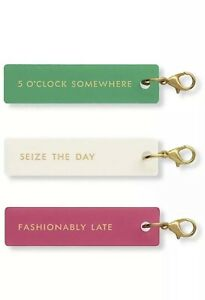 """Kate Spade New York """"Planner Charm Set""""  Fashionably Late"""