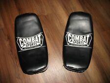 COMBAT SPORTS INTERNATIONAL MMA KICKBOXING TRAINING CURVED STRIKE KICK PADS NICE