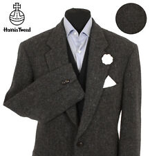 Harris Tweed Veste Blazer Taille 44R gris chiné pays tissage chasse Hacking Suit