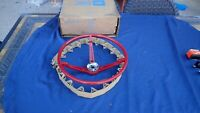 1967 Ford Mustang steering wheel, red color, NOS! C7ZZ-3600-J