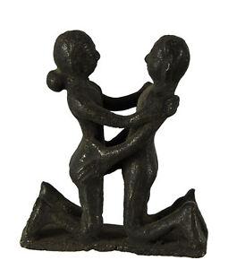 Statuetta Erotico Kamasutra -statuetta Coppia Nudo Posizione Sexy -ottone- S7-