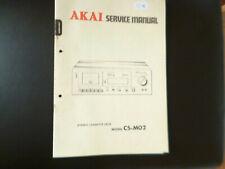 Original Service Manual Schaltplan  Akai CS-M02