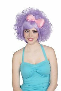 Womens 80s Pastel Harajuku Anime Costume Cutie Doll Wig With Bow
