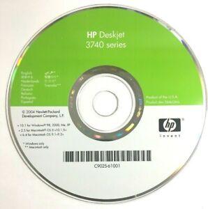 HP DeskJet 3740 Series Inkjet Printer CD Driver installation Win 98/ME/XP MAC