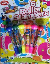 ANIMAL ANTIC Roller Stamper con punta in fibra penne Kids Bambino Divertimento Creativo Arte Craft