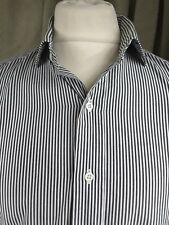 "Polo by Ralph Lauren 100% Cotton Blue White Striped Estate Shirt 16"" C42"""