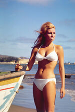 RAQUEL WELCH STUNNING IN WHITE BIKINI COLOR POSTER