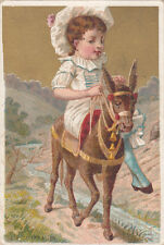 ENFANT ENFANTINA ANE COSTUME   1900s CARD CHROMO