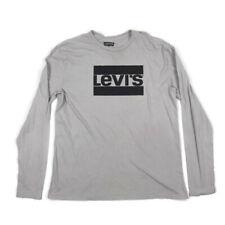 Levis Mens Graphic T Shirt Long Sleeve Gray XL