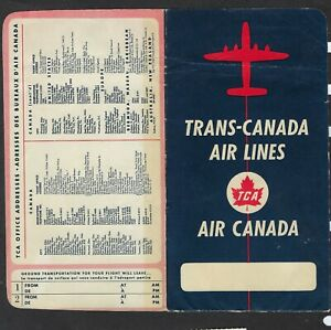 VINTAGE TRANS-CANADA AIR LINES - FOLDER & TICKET -1959 - TORONTO to FORT WILLIAM