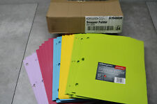 24x Wilson Jones Snapper Folder Letter Sizer 2 Pockets 3 Ring Binders 4 Colors