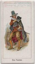 Guy Fawkes Westminster Gunpowder Plot British Soldier 1920s Trade Ad Card