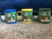 San Diego Zoo Wild Animal Park Plastic Souvenir Cup Mug Lot of 3 Vintage 90s