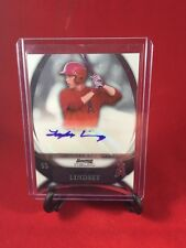 Taylor Lindsey 2010 Bowman Sterling Autograph Padres Angels Jersey Auto