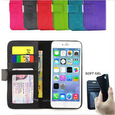 iPhone 5 5S SE 5C Case, Ultra Leather Flip Wallet Cover for Apple