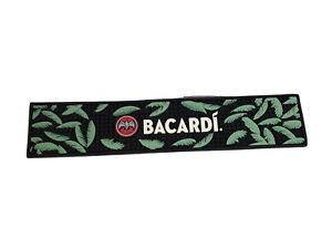 NEW Bacardi Mojito Leaves Bar Runner - Black Green