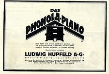 Le phonola piano Ludwig HUPFELD A.G. Berlin w. historique annonce 1921