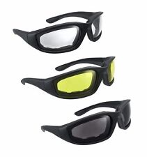 3pc Motorcycle Bike Riding Biking Sun UV Wind Protection Glasses Gear Goggles
