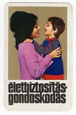 VINTAGE 1974 UNGHERESE Banking & ASSICURAZIONE TASCA calendario che mostra