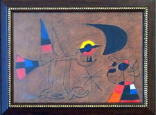 JOAN MIRO Great ORIGINAL Mixed Media on Paper Drawing Signed & Framed. Europe